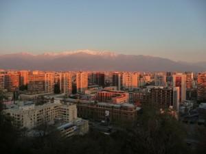 """Santiago aus dem """"Cerro Santa Lucia"""""""